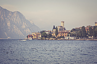 Italy, Veneto, Malcesine, View of the city with Castello Scaligero - LVF002166