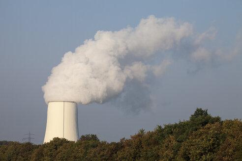 Germany, North Rhine-Westphalia, Bergkamen, Bergkamen Power Station, cooling tower - WIF001155