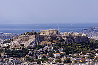 Greece, Athens, cityscape from Mount Lycabettus with Acropolis - THAF000896