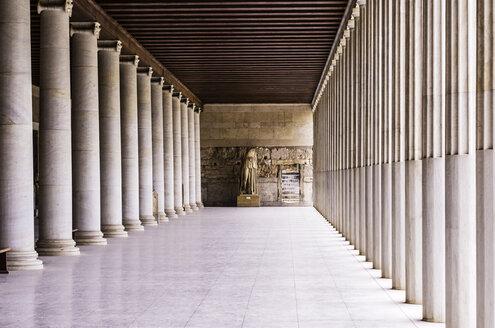 Greece, Athens, Stoa of Attalos, colonnade - THA000909