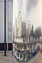 Germany, Cologne, Zollhafen, buildings reflecting in a chromed column - MEMF000450