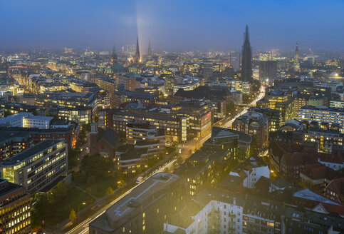 Germany, Hamburg, Cityscape at night - RJF000355