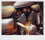 Close up of old Harley Davidson engine - HOH001103
