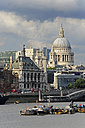 UK, London, River Thames and St. Paul's Cathedral - MIZF000636