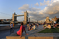 UK, London, Tower Bridge seen from the South Bank - MIZ000657