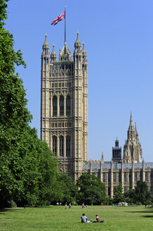 UK, London, Palace of Westminster, Victoria Tower - MIZF000652