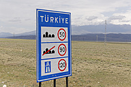 Turkey, Dogubeyazit Province, speed limit sign - SIEF006254