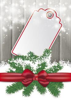 Ribbon, snow and gift tag, vector graphics - ALF000253