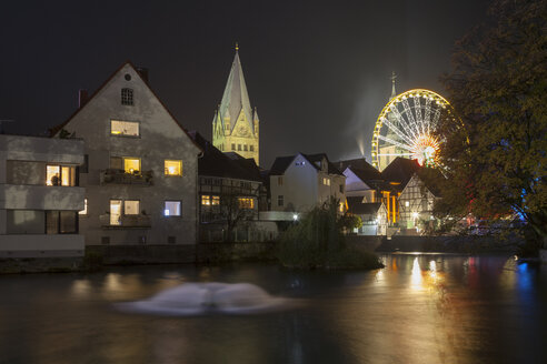 Germany, North Rhine-Westphalia, Soest, All Saints' Day, Big wheel at night - WIF001167