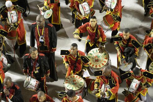 Brazil, Rio de Janeiro, Sambodromo, Carnaval, parade of samba school Academicos do Grande Rio - FLK000556