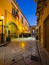 Italy, Sicily, Province of Trapani, Marsala, Old town, Lane in the evening - AM003241