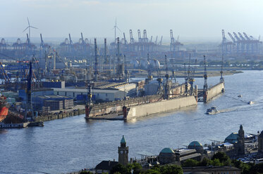 Germany, Hamburg, St. Pauli, harbor and River Elbe - MIZF000754