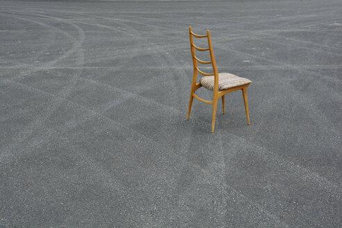 Wood chair on a runway - AXF000732