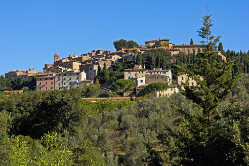 Italy, Tuscany, Castagneto Carducci, View to village - UMF000709