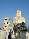 Spain, Catalonia, Barcelona, chimneys of Villa Casa Batllo - HL000772