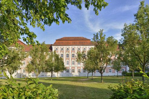 Germany, Baden-Wuerttemberg, Ulm, Wiblingen Abbey with meadow - SHF001609
