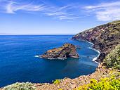 Spain, Canary Islands, La Palma, cliff coast at Garafia - AMF003262