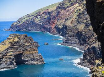 Spain, Canary Islands, La Palma, cliff coast at Garafia - AMF003259