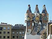 Spain, Catalonia, Barcelona, chimneys of Villa Casa Batllo - HL000777