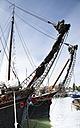 Netherlands, Ijsselmeer, Muiden, sailing ships in harbor - FC000526
