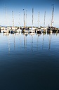 Netherlands, Durgerdam, IJsselmeer, sailing boats in harbor - FC000529