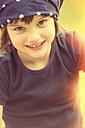 Happy girl with headscarf - LVF002326