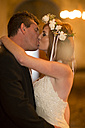 Bride and groom kissing - ZEF002585