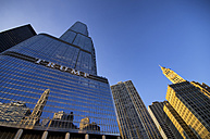 USA, Illinois, Chicago, view to Trump Tower from below - SMA000266