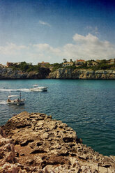 Spain, Majorca, Porto Cristo, harbor entrance - DWIF000300