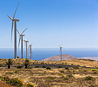 Spain, Canary Islands, Lanzarote, Los Valles, Wind wheels - AMF003317