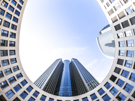 Germany, Hesse, Frankfurt, Frankfurt-Gallus, Tower 185, wide angle view - AMF003323