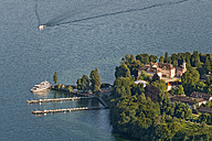Germany, Baden-Wuerttemberg, Island Mainau, aerial view of castle and harbor - SHF001795