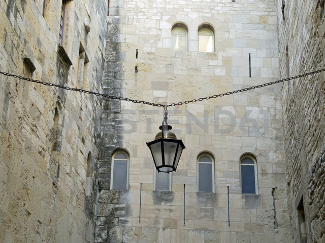 France, Haute-Garonne, Toulouse, hanging street latern - HLF000786