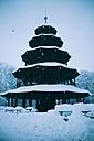 Chinese Tower in English Garden in winter, Munich - BRF000819