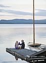Sweden, Lapland, Norrbotten County, Kvikkjokk, lake Saggat, children toasting lemonade - JBF000195
