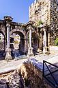 Turkey, Antalya, Arch of Hadrian in old town - THAF000996