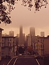 San Francisco, Transamerica Pyramid in fog - BRF000832