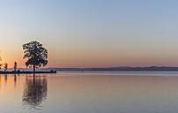 Germany, Mecklenburg-Vorpommern, Schwerin, sunrise at Lake Schwerin - PVCF000207