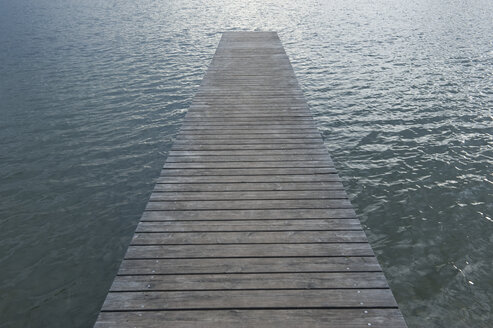 Wooden boardwalk at lake - CRF002619