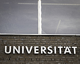 Germany, Berlin, facade with the word Universitaet - CMF000202