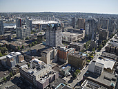Canada, British Columbia, Vancouver, view from Lookout Tower to the city - HLF000803
