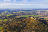 Germany, Baden-Wuerttemberg, aerial view of Hohenzollern Castle - WDF002789