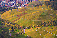 Germany, Baden-Wuerttemberg, aerial view of vineyards at Stetten - WDF002801