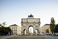 Germany, Bavaria, Munich, Siegestor at blue hour - BRF000888