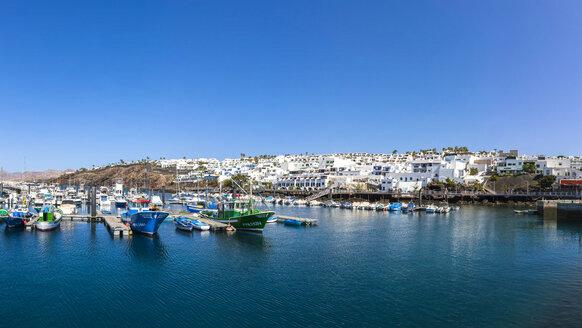 Spain, Canary Islands, Lanzarote, fishing harbor and coastal village Puerto Del Carmen - AMF003431