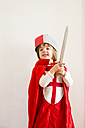 Portrait of little girl masquerade as a knight - LVF002461