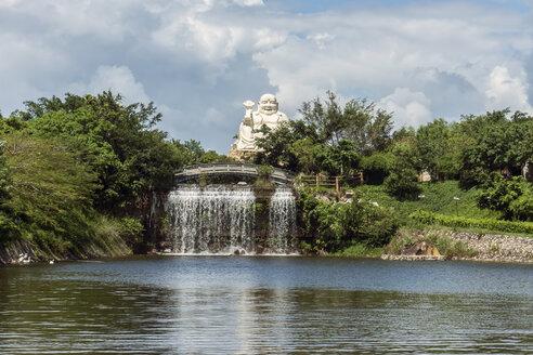Vietnam, Vung Tau, statue of Buddha in Ho May amusement park - WEF000316