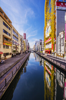 Japan, Osaka, shops in Dotonbori district - THAF001007