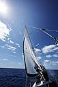 Spain, Balearic Islands, Mallorca, sailing on the sea - STKF001089
