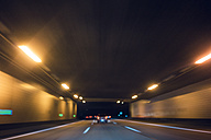 Long exposure of motorway tunnel at night - FLF000611